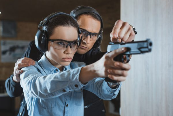 private lesson at shooting range